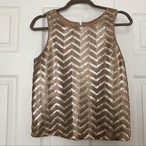 BEBE  gold shirt size xxs  sequin top